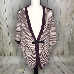 One A Open Front Tunic Cardigan Sweater